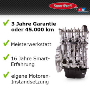 Smart-fortwo-451-999ccm-45KW52KW-Austauschmotor-AT-Motor-Smartmotor-Motor-281884273155